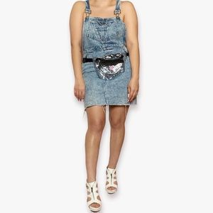 G.H. Bass Denim Acid Wash Overall Dress